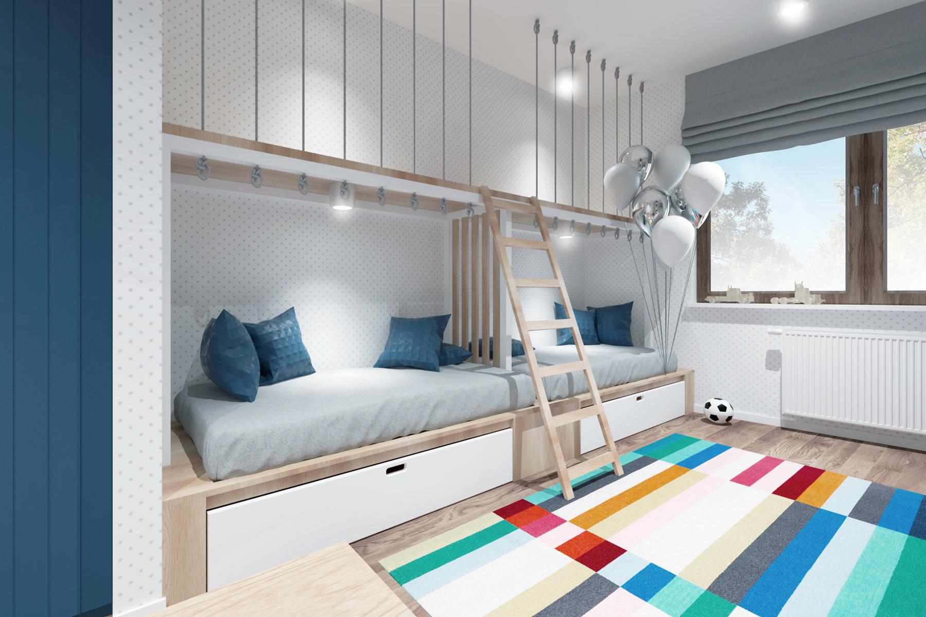Projekty wnętrz - pokój dla bliźniąt.