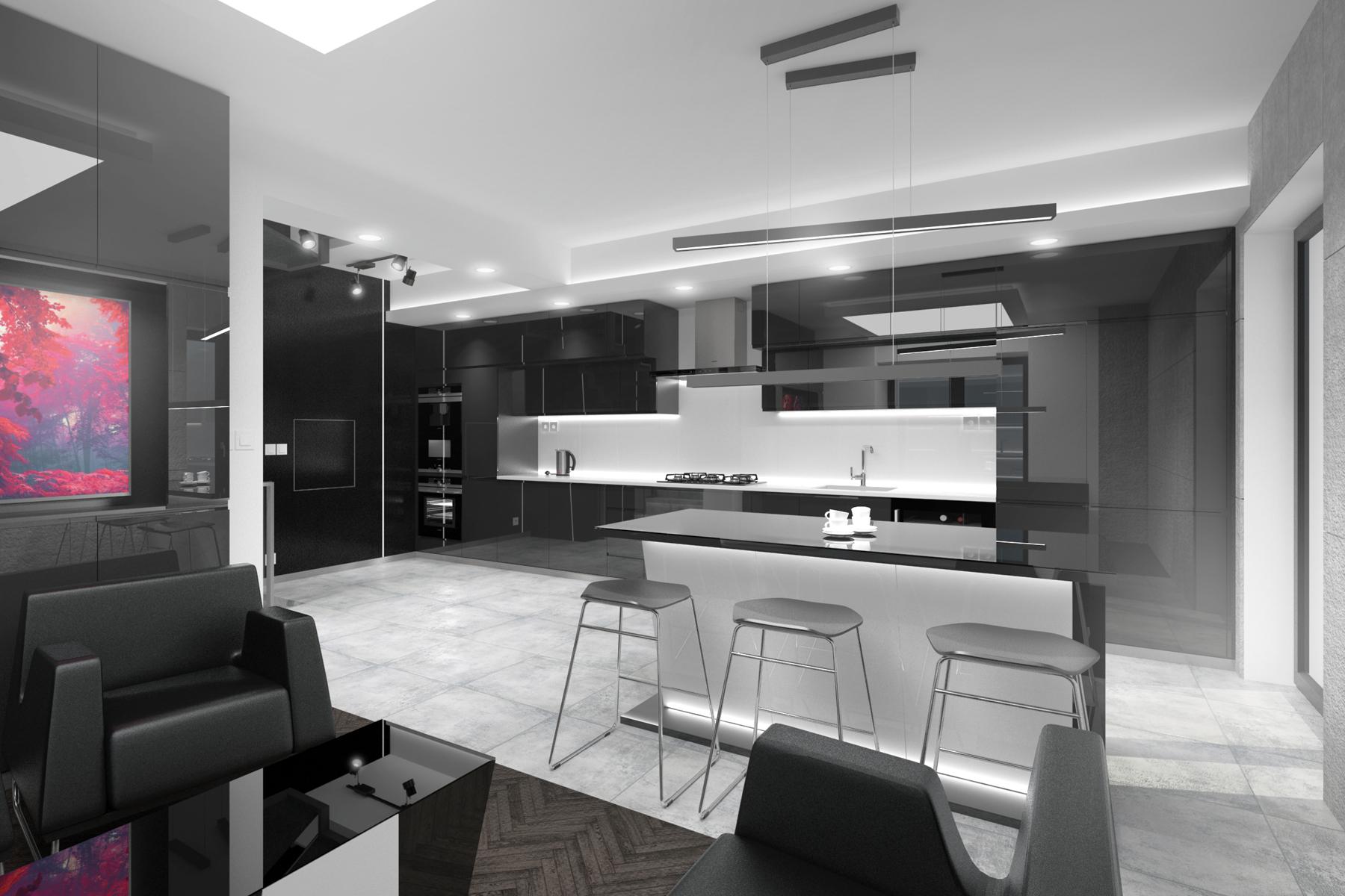 kuchnia - nowowczesne wnętrza domu