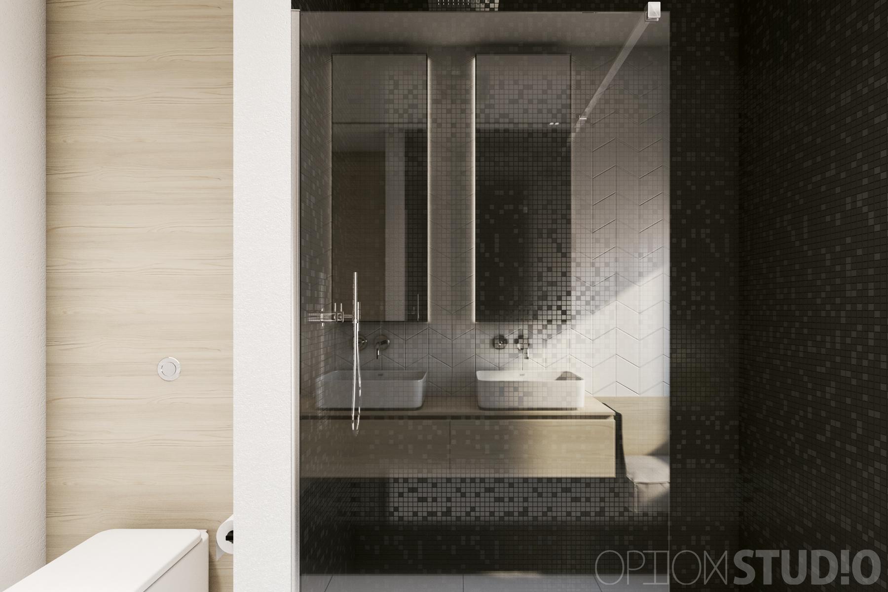 Architekt wnętrz - projekty wnętrz nowoczesnych - Łódź - łazienka z oknem 2