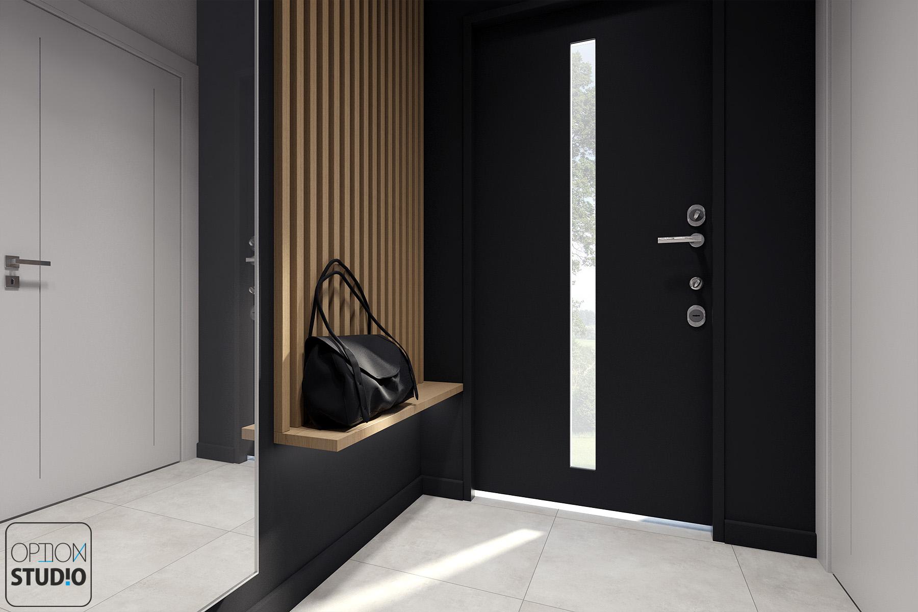 Architekt wnętrz - projekty wnętrz nowoczesnych - salon z aneksem kuchennym - aranżacje wnętrz domu pod Łodzią 5